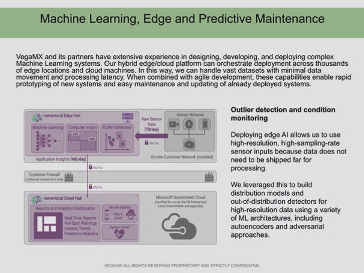 vegamx machine learning, predictive maintenance