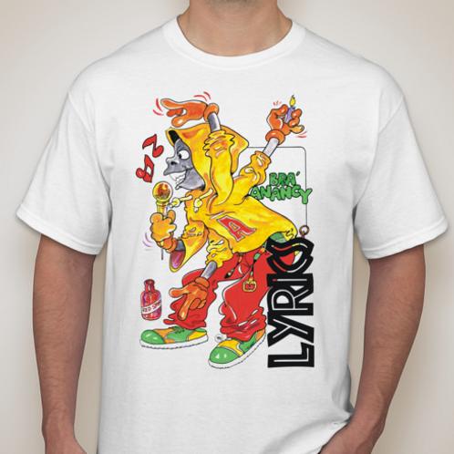 Bra Anancy Lyrics WHT T-Shirt