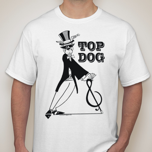 TOP DOG T-Shirt B&W