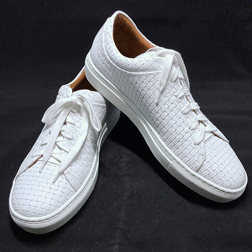 Aquqatalia Alaric Embossed Leather Sneaker Shoe Size 8.5