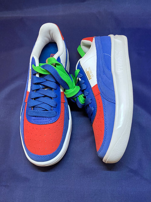 Puma GV Special Primary Tennis Gy Blue White High Size 7.5