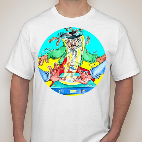 Snip Cyan/WHT T-Shirt