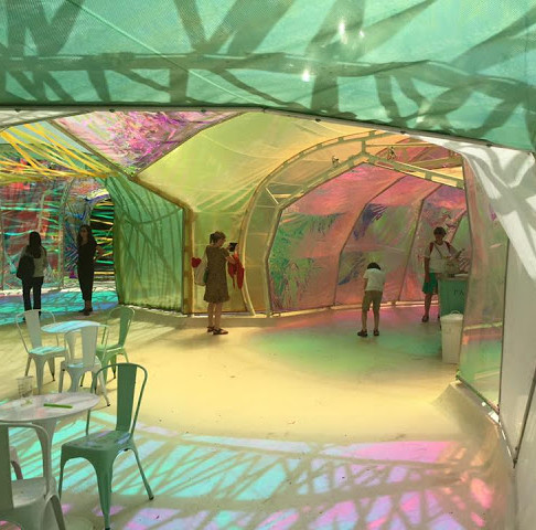 London with kids - the Serpentine Pavilion