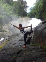 Yoga at the waterfall