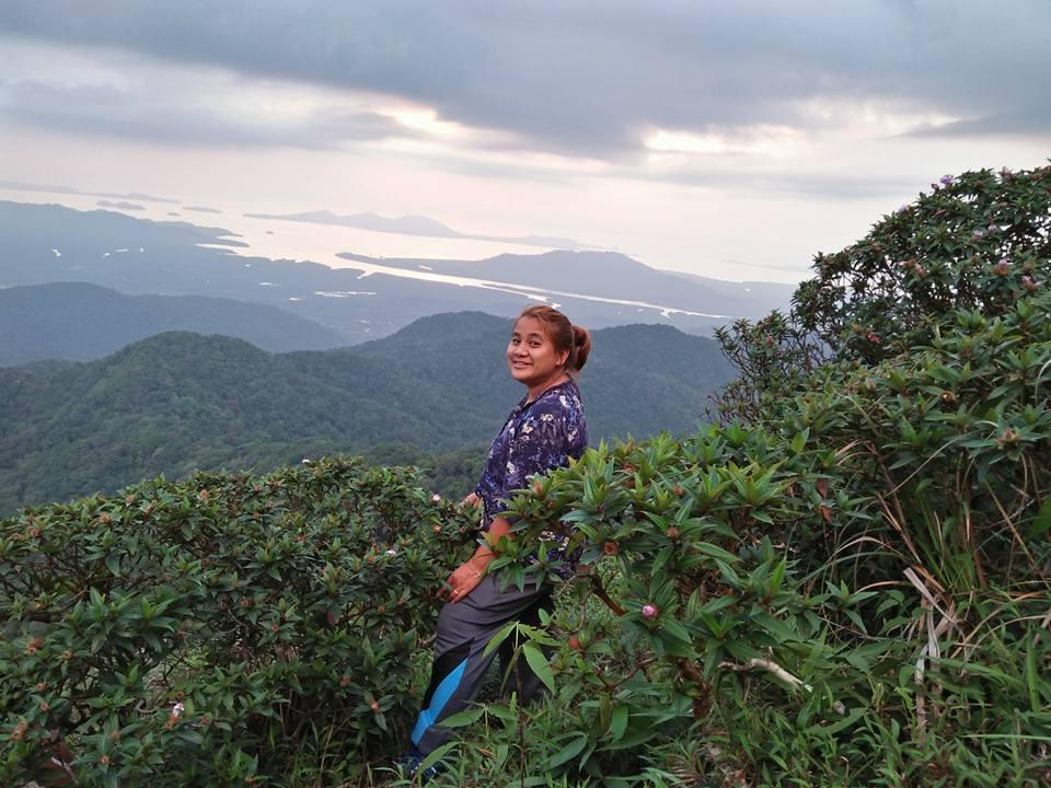 trek view mountain andaman sea