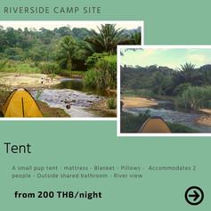 tent on riverside
