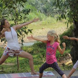 Jungle yoga for kids