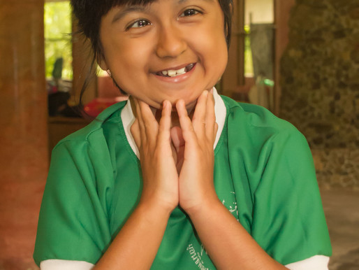 Meet Nong Caffeh, one of the kids you support with your stay @ Eco-Logic Thailand