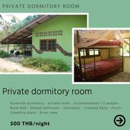 Riverside private dormitory room