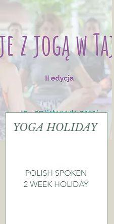 Polish Yoga Holiday | November 2019