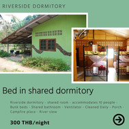 Bed in shared dormitory