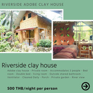 Riverside adobe clay house