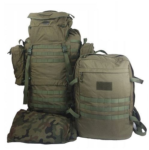 2 in 1 Army Rucksack 80l + 20l Bug Out Bag.