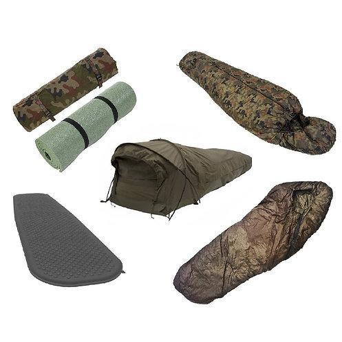 Military Sleeping System. Army Sleep System – Bivy Bag + Sleeping Bag + Mat