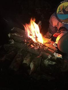 Rozpalanie Ognia. Ognsko Odwrotne - Całonocne.