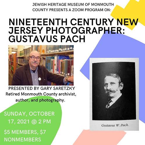 Nineteenth Century New Jersey Photographer: G. Pach (Oct. 17 @ 2 PM) non-member