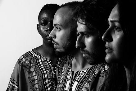 Tresor Muteba, Conrado Dess, Ériko Carvalho e Elise Garcia em São Paulo Refúgio