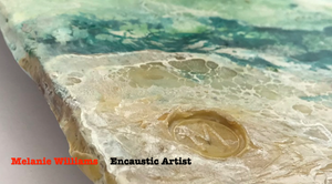 Video about Melanie Williams an Encaustic Artist from Bala in Wales
