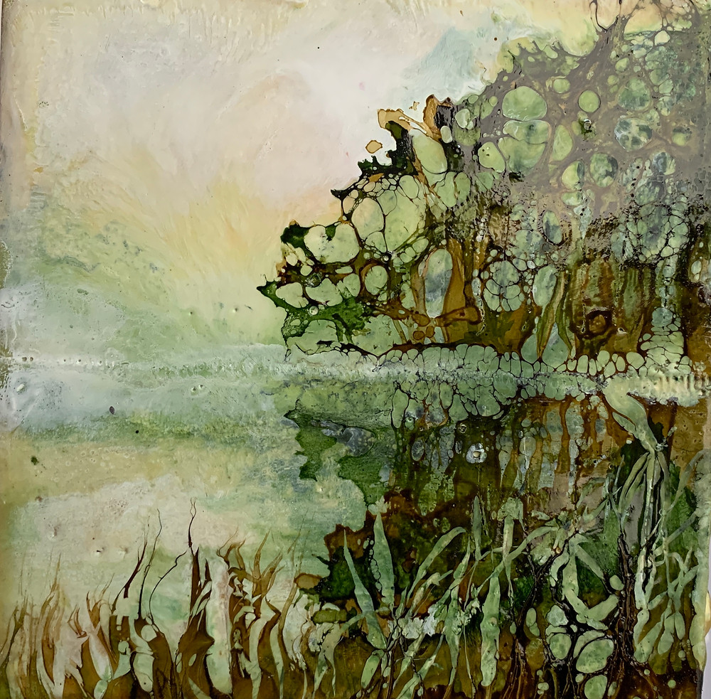 An Encaustic Artwork by Melanie Williams