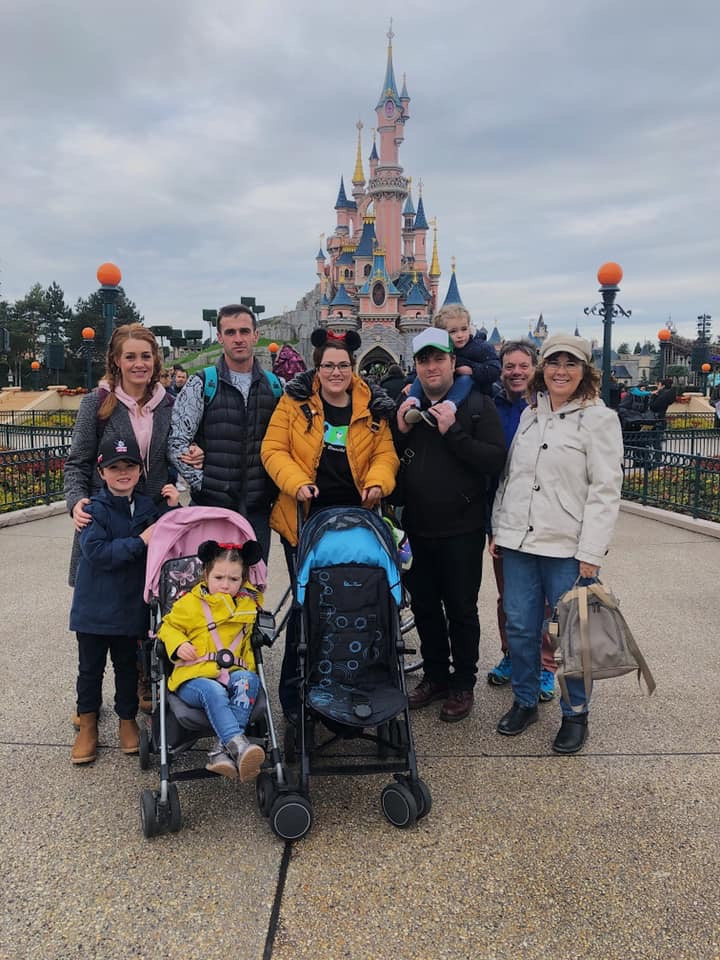 The family at Disneyland Paris
