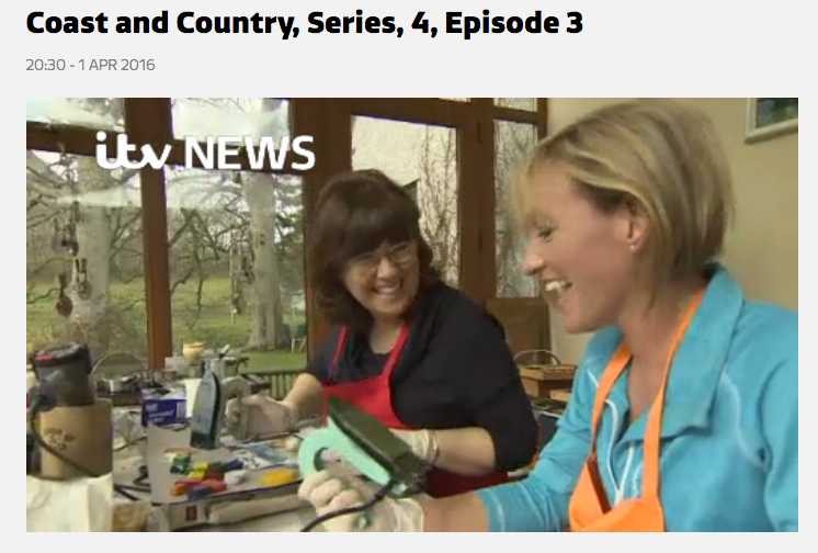Click to watch Mel demonstrating using the encaustic iron on TV