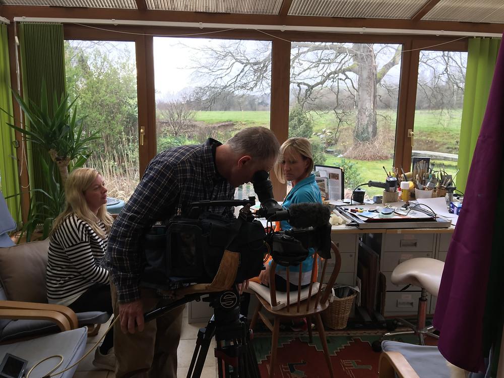 ITV Coast & Country Programme filming at Mel Williams encaustic studio