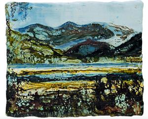 Eryri - Snowdonia - an encaustic image of Snowdonia by Melanie Williams