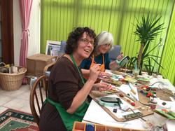 Julie & Diana having fun