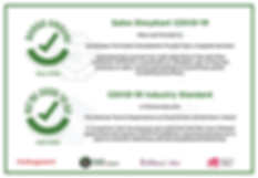 COVID-19 Industry Standard Certificate for Cysgod y Coed Self Catering