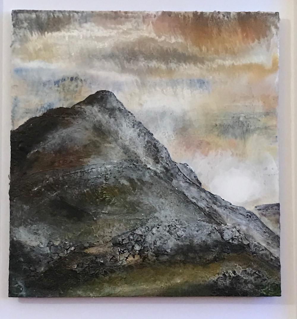 Cnicht Mountain, Encaustic painting by Melanie Williams, Bala