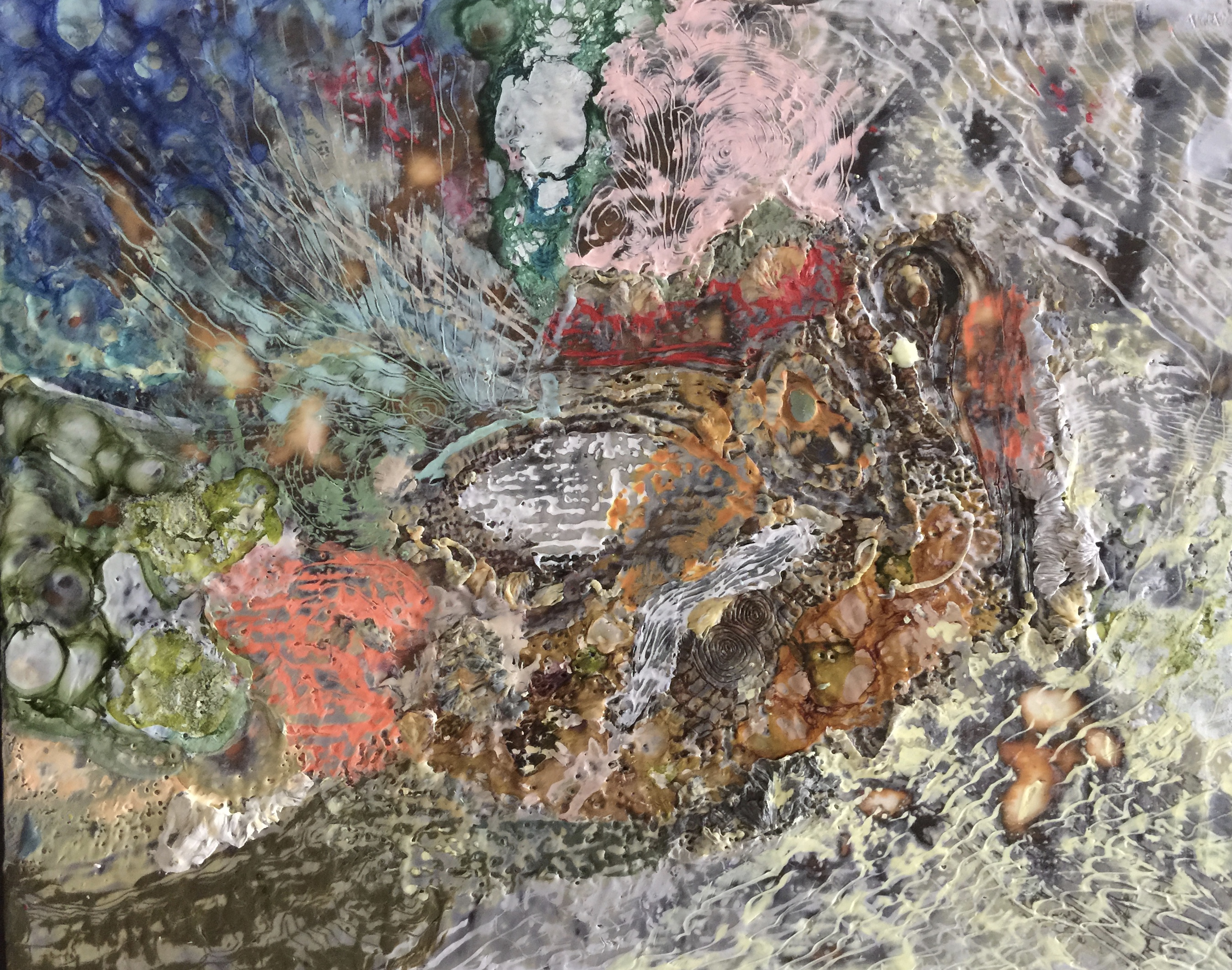 Corfu Encaustic layering by Mel