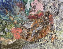Corfu Encaustic layering by Mel