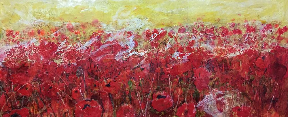MelanieWilliams, Encaustic Poppies