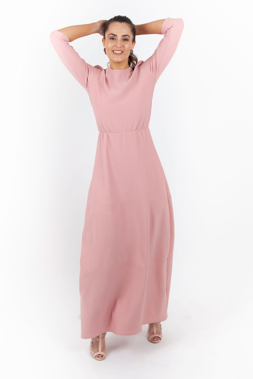 0dddec1805 The Lizzie Maxi Dusty Pink Dress. £ 50.00. MADE IN THE UK