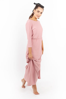The Lizzie Maxi Dusty Pink Dress