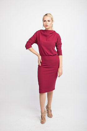 Cerise Wave Dress