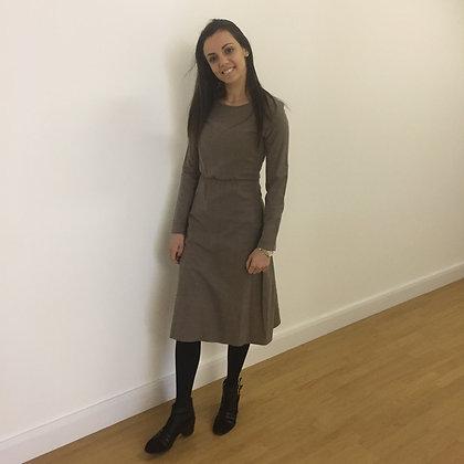 Brown Wool Vintage Dres