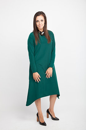 Bottle Green Sway Dress