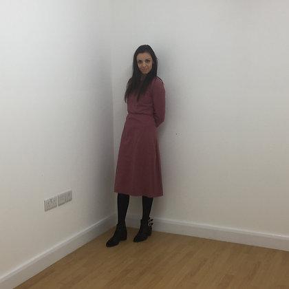 Cherry Wool Vintage Dress