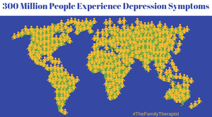 Millions of people experience depression symptoms