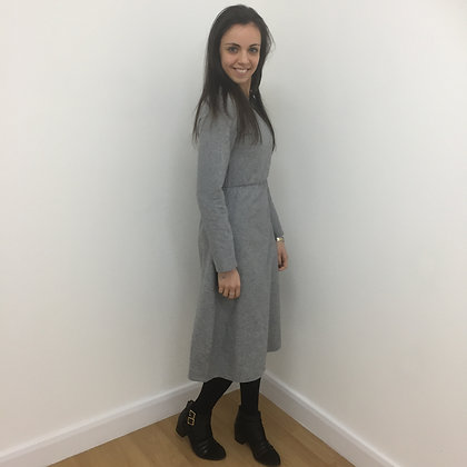 Grey Wool Vintage Dress