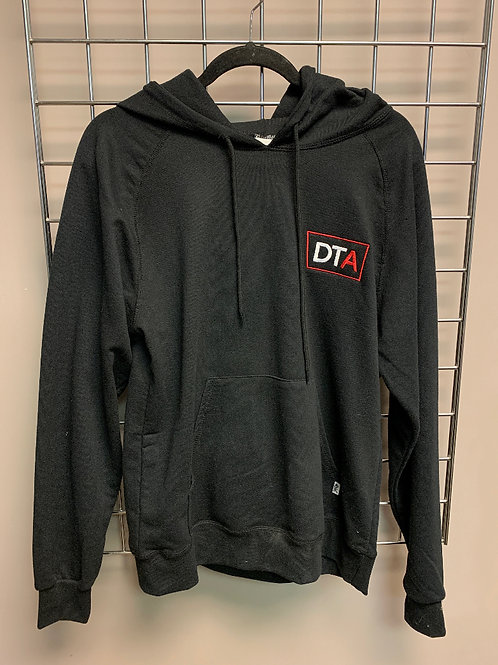 DTA Black Embroidered Hoodie in S, M & Large
