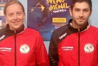 Maëlle et Quentin entraîneront les handballeurs.