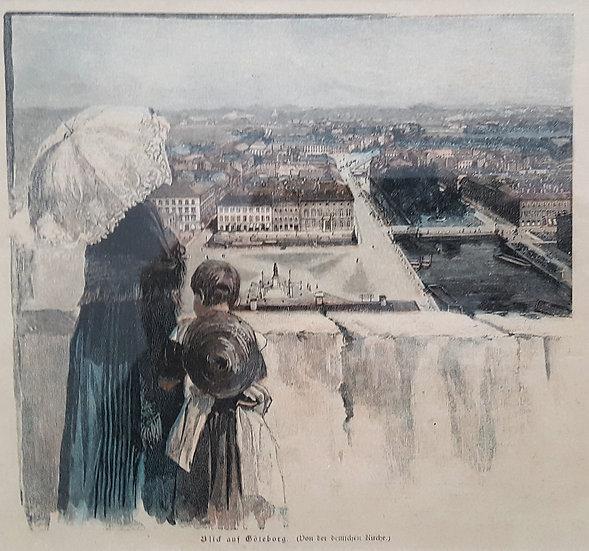 Utsikt över Göteborg (från Tyska kyrkans tak), Barthel, 1894