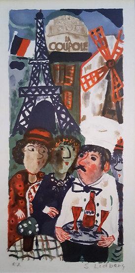 Sven Lidberg, Litografi, Eiffeltornet