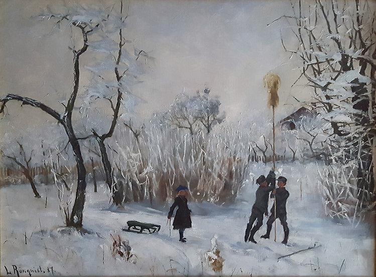 """Vinterlek"", Lotten Rönquist 1887"