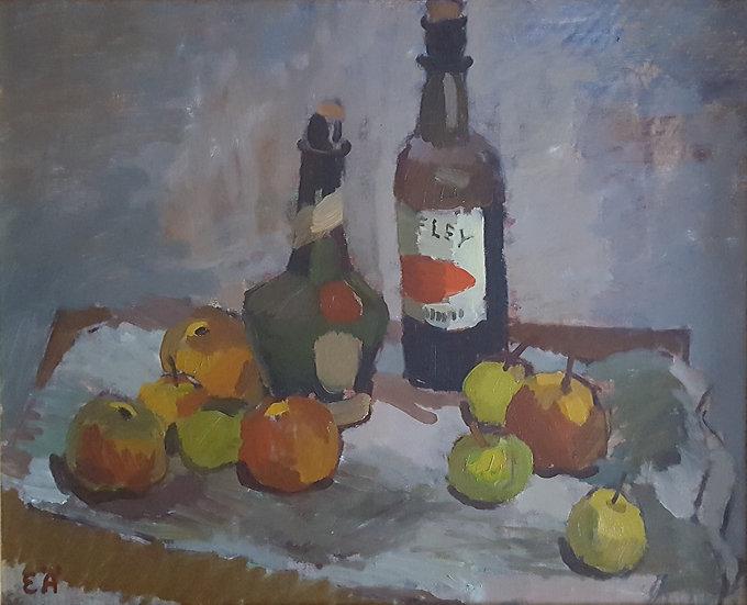 Oljemålning, stilleben, Erling Ärlingsson (1904-1982)