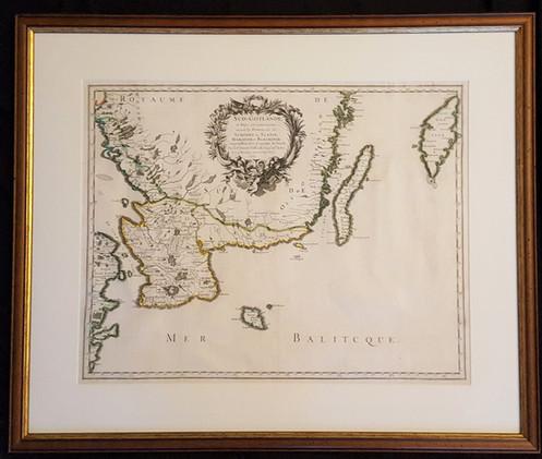 Karta Blekinge Skane.Karta Over Skane Blekinge Och Halland Nicolas Sanson 1659