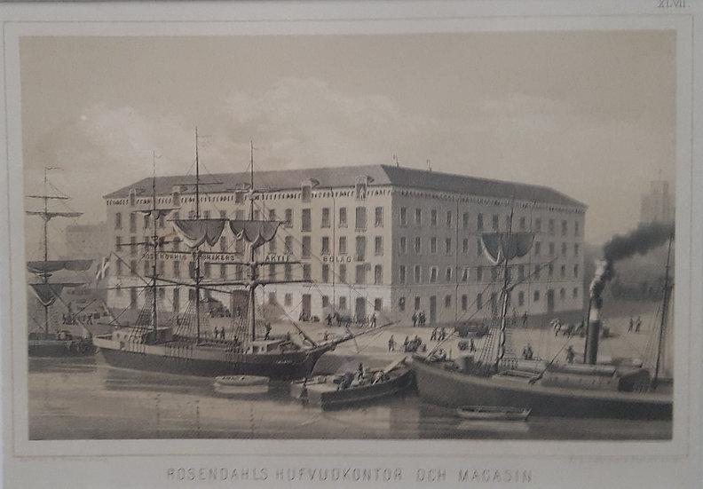 Rosendahls hufvudkontor och magasin (i Göteborg), Gustaf Pabst, 1870