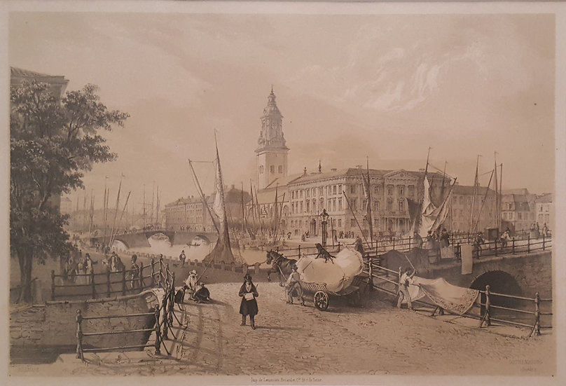 Litografi, Gustav Adolfstorg i Göteborg, Carl Johan Billmark, 1860